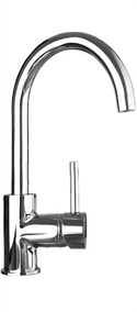 Quoss gooseneck sink mixer KM005, WELS 5 star rating, 5L/min