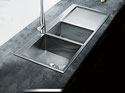Lag Single and a small Countertop Sink with drainer 1000x510x220mm Lifestyle