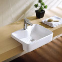 K324B Square Semi Recessed Basin 480x370x130mm