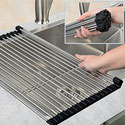 Space Saving Foldable Roll Up Dish Drying Drainer Rack for KSS Kitchen sinks