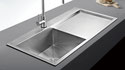 Day Single Countertop Sink with drainer 865x510x220mm Lifestyle