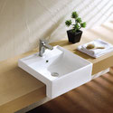 K319 Square Semi Recessed Basin 460x460x170mm