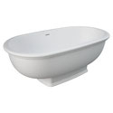 Rak Washington Matte White Stone Bath  Product Code: ST68 Tag: Modern Vintage Cast stone solid surface Modern vintage freestanding style Matte white finish Built-in overflow Matte white solid surface cap waste included Made in Italy