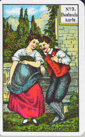Ehekarte, Beziehungskarte, zeigt Bindungen an