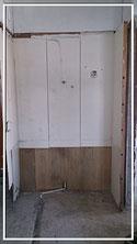 丟棄雜物、拆除鐵架、拆除木牆間隔、拆除玻璃門