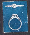 Schmuck-Entwurfszeichnung: Ring vermutlich von Otto oder Erwin Dressel Pforzheim 1930er Jahre.