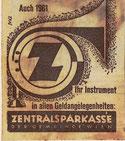 Auch 1961 - ihr Instrument in allen Geldangelegenheiten. Zentrasparkasse der Gemeinde Wien. Inserat.