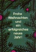 Frohe Weihnachten und ein erfolgreiches neues Jahr! Sparkassenpklakat von 1964.