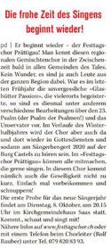 4. Oktober 2019 Klosterser Zeitung