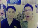 2006年 FMヨコハマ「琉球タイム」に出演 DJ柴田聡さんにシーサー作りを指導