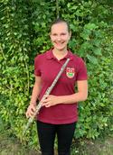 Julia Kaffeya Querflöte Jugendvertreterin Jugendwartin Musikverein Marienhagen Flötenschlumpf