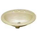 Almond Ivory 3 TH drop in basin 540x435mm - discontinued