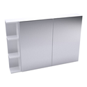 Shaving Mirrored Cabinet with side shelves - 880mm