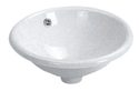 Ex-display round drop in Basin 420x420mm no TH $30.00