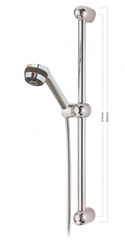 Banksia 3 Spray Settings on gardenia rail (available in ivory/chrome, ivory/gold)