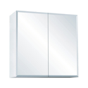750x750mm Full Mirror Shaving Mirrored PVC Waterproof Cabinet fully painted white 2 pk & adjustable glass shelves