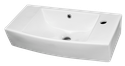 Slim Compact Hand Rinse Narrow Depth Powder Room Wall Hung Basin 1TH 507x256x114mm 1TH $70.00