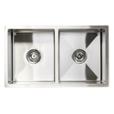 Square double bowls Undermount Sink 750x440x200mm