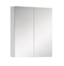 600x750mm Full Mirror Shaving Mirrored PVC Waterproof Cabinet fully painted white 2 pk & adjustable glass shelves