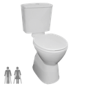 Plaza Ambulant VC Cistern Toilet Suite, WELS 4 star rating, 4.5/3L