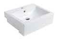 Ex-display Square semi recessed Basin 515x430x160mm 1TH $30.00