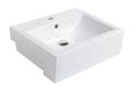 Ex-display Square semi recessed Basin 515x430x160mm 1TH $30.00