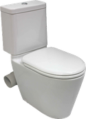 Space Solution Closed Coupled Skew Toilet Suite, set out skew trap 60mm, WELS 4 star rating, 4.5/3L