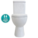 Tradie Ambulant Ezy Height S Trap 140mm Closed Coupled Toilet Suite, WELS 4 star rating, 4.5/3L