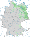 Karte zur Verbreitung der Schellente während der Brutzeit.