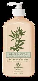 Tropical Colada Original Hemp Nation Australian Gold Zonnebank creme bronzer zoncosmetica DHA cosmetisch natuurlijk Aftersun Huidverzorging