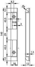 Kappenschliessblech GLUTZ B-1001.531
