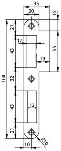 Lappenschliessblech GLUTZ B-1001.431