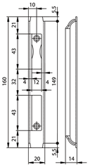Kappenschliessblech GLUTZ B-1160.531