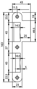 Lappenschliessblech GLUTZ B-1102.431