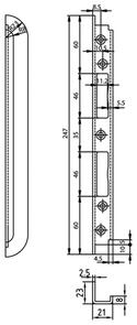 Einfrässchliessblech GLUTZ B-1150.702