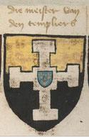 Armes du grand maître Guillaume de Beaujeu dans l'armorial Beyeren