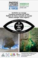 Affiche de l'exposition des photos de Delphine Masson; vente au bénéfices de Bien Vivre l'Autisme
