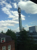 A view of the BT Tower from my hotel room