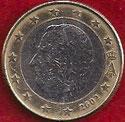 MONEDA BÉLGICA - KM 230 - 1 EURO - 2.002 - CUPRONÍQUEL - LATÓN - BIMETÁLICA (MBC-/VF-) 1,75€.