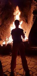 Feuerritual -  Visionssuche