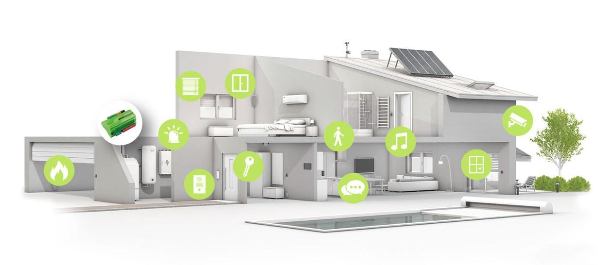 Ein Smart-Home macht Ihr Zuhause deutlich sicherer und schützt Ihre Familie vor Einbruch und Witterungsschäden