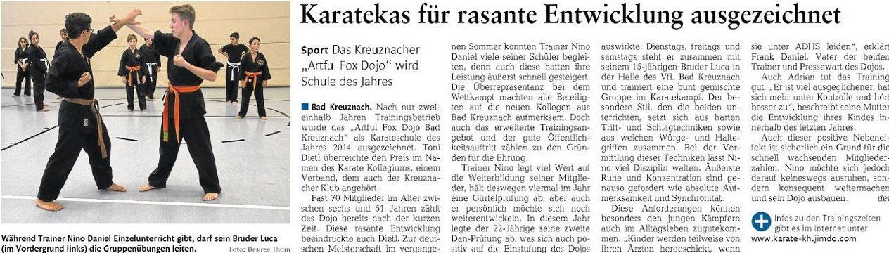 Öffentlicher Anzeiger Bad Kreuznach, Oktober 2014