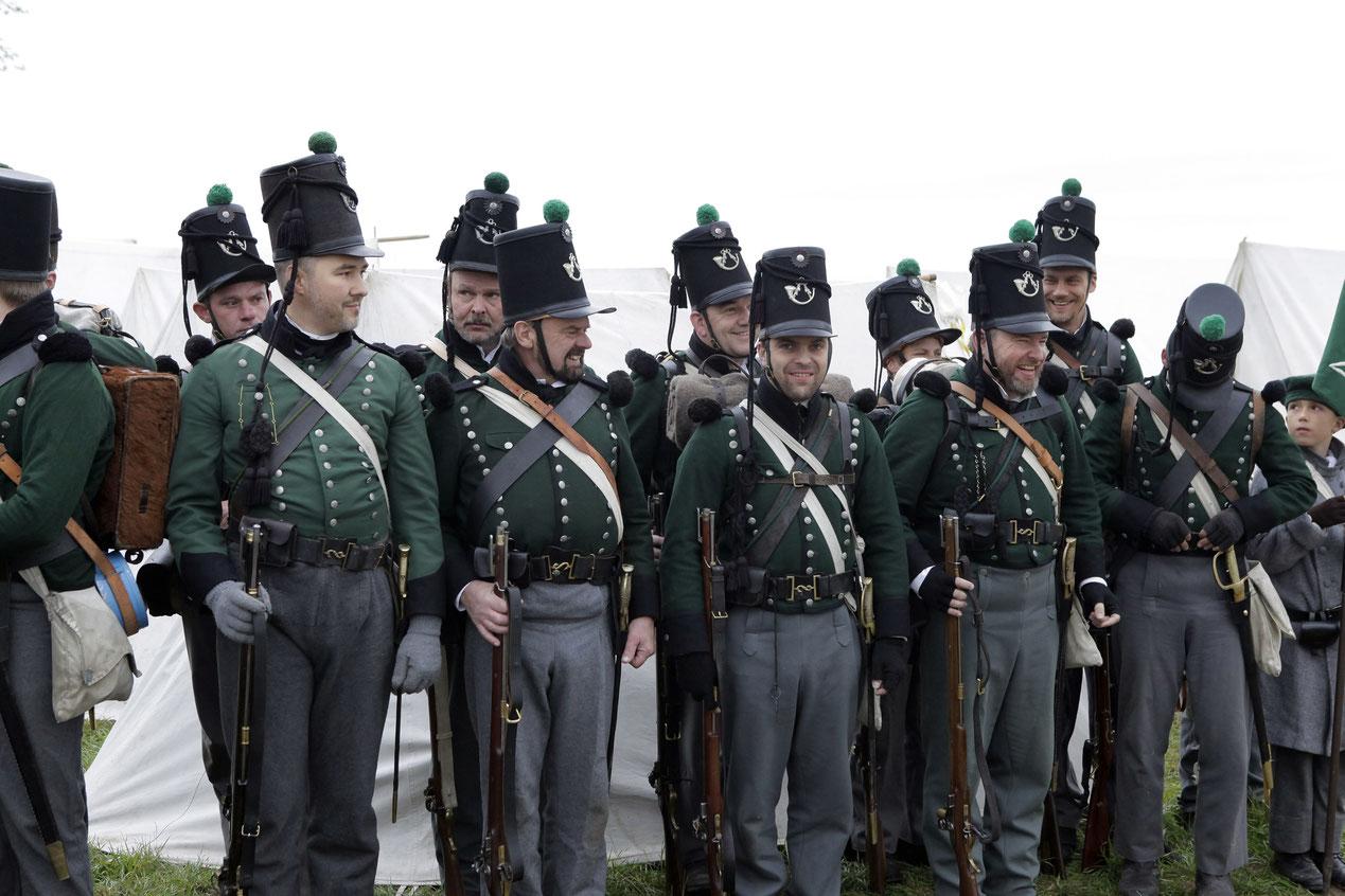 2nd Light Infanterie Bataillon of King's German Legion KGL hannoveraner Jäger Leichte Infanterie Reeanctmant Jena 2016 Jena_2016 Reenactment