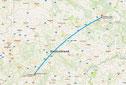 Frankfurt - Berlin (Google Maps)