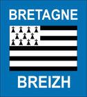 ADHESIF PLAQUES IMMATRICULATION  REGION BRETAGNE