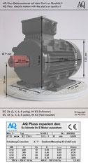 2 polig B3 CAM 56 AA 2 0,09 KW Typenschild 2004001 D Mot