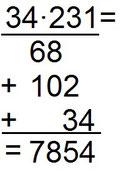 Beispiel zur schriftlichen Multiplikation