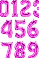 Folienballon Luftballon Ballon Zahl Ballonzahl Folienzahl Zahlen Buchstaben XXL Schriftzug Schriftzüge Geburstag Hochzeit Namen Brautpaar Party Helium Northstar Balloon rosegold silber gold pink blau