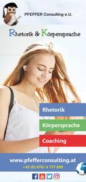 Folder Rhetorik & Körpersprache, PFEFFER Consulting