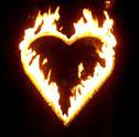 Hochzeitsfeuerwerk Flammenherz